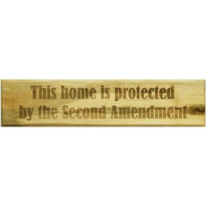 Home Protected by The Second Amendment Sign